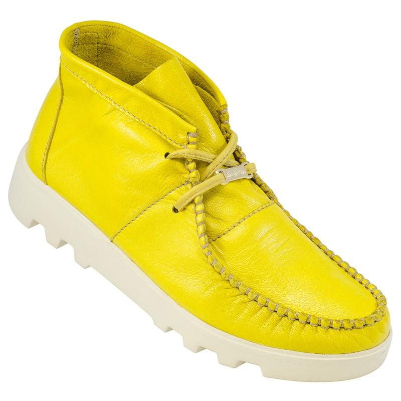 Abotinado Tratorado Feminino Amarelo