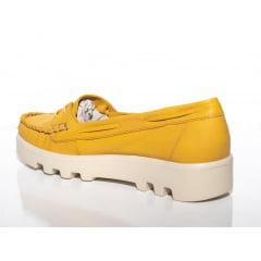 Mocassim Feminino Tratorado Amarelo