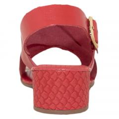 Sandália Feminina Vermelho Coral